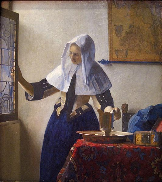 Young Woman with a Water Pitcher, c.1662 - c.1665 - Johannes Vermeer