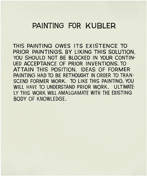 Painting for Kubler, 1968 - John Anthony Baldessari