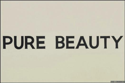Pure Beauty, 1968 - John Baldessari