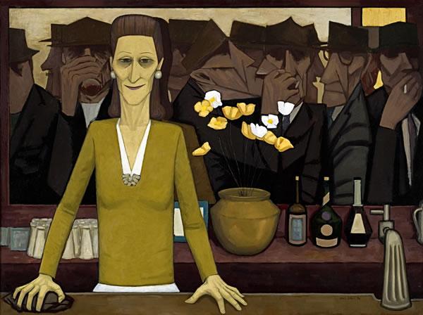 The bar, 1954 - John Brack