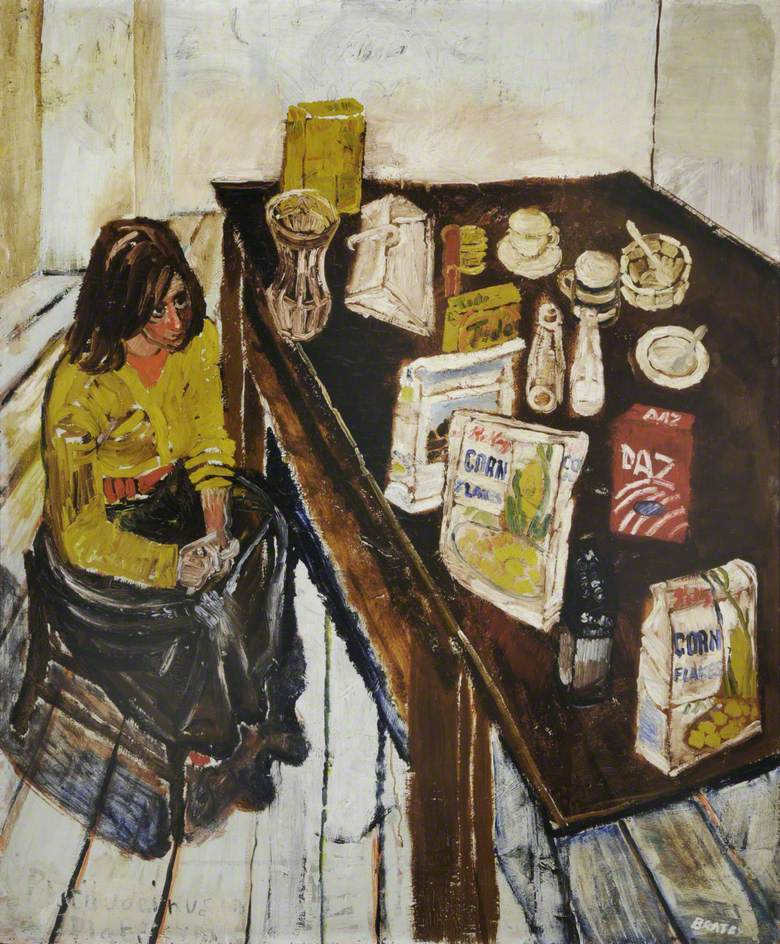 Jean and Table Top (Girl in a Yellow Jumper), 1954