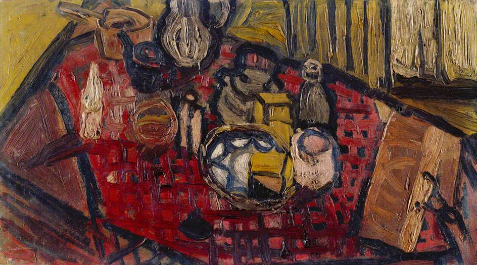 Still Life with Check Table Cloth, 1960