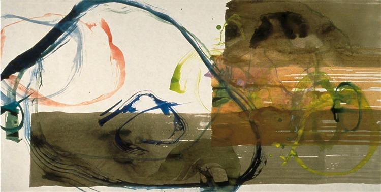 New River Watercolor, Series I, #5, 1988 - John Cage