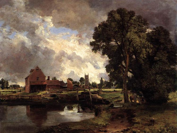 Dedham Lock and Mill, 1818 - John Constable