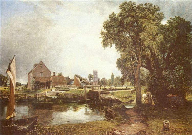 Dedham Lock and Mill, 1820 - John Constable