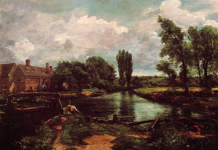 Flatford Mill from a Lock on the Stour - John Constable