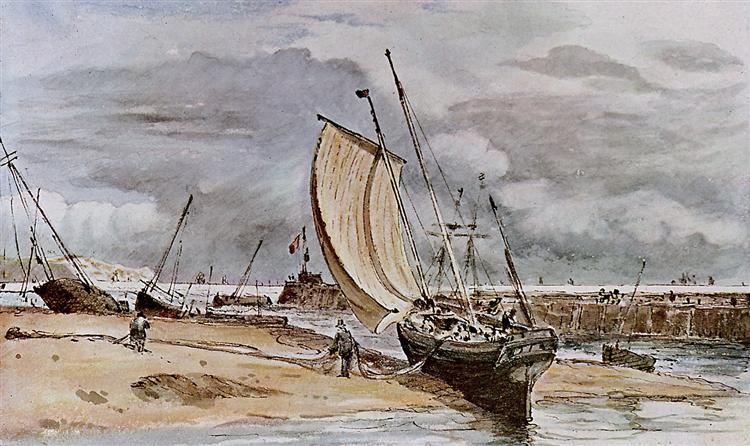 Fokstone harbour - John Constable