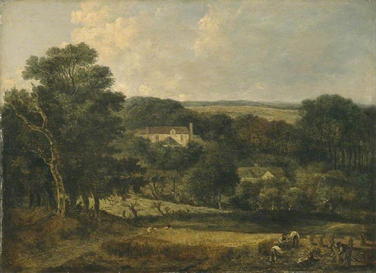 View near Norwich with Harvesters, 1821 - John Crome