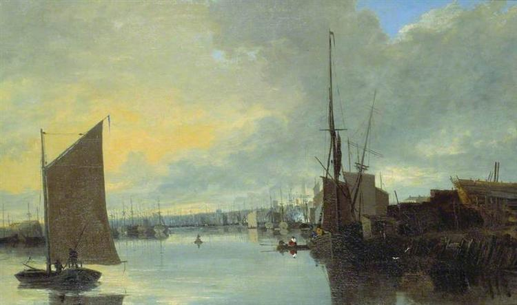 Yarmouth Harbour - Evening, 1817 - John Crome