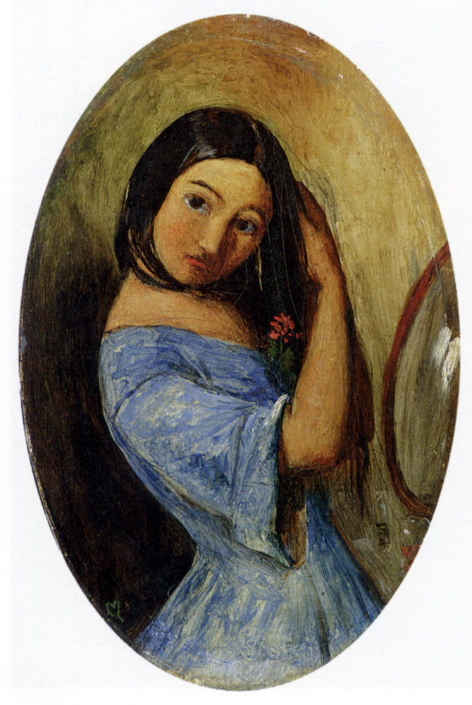 A Young Girl-Combing Her Hair
