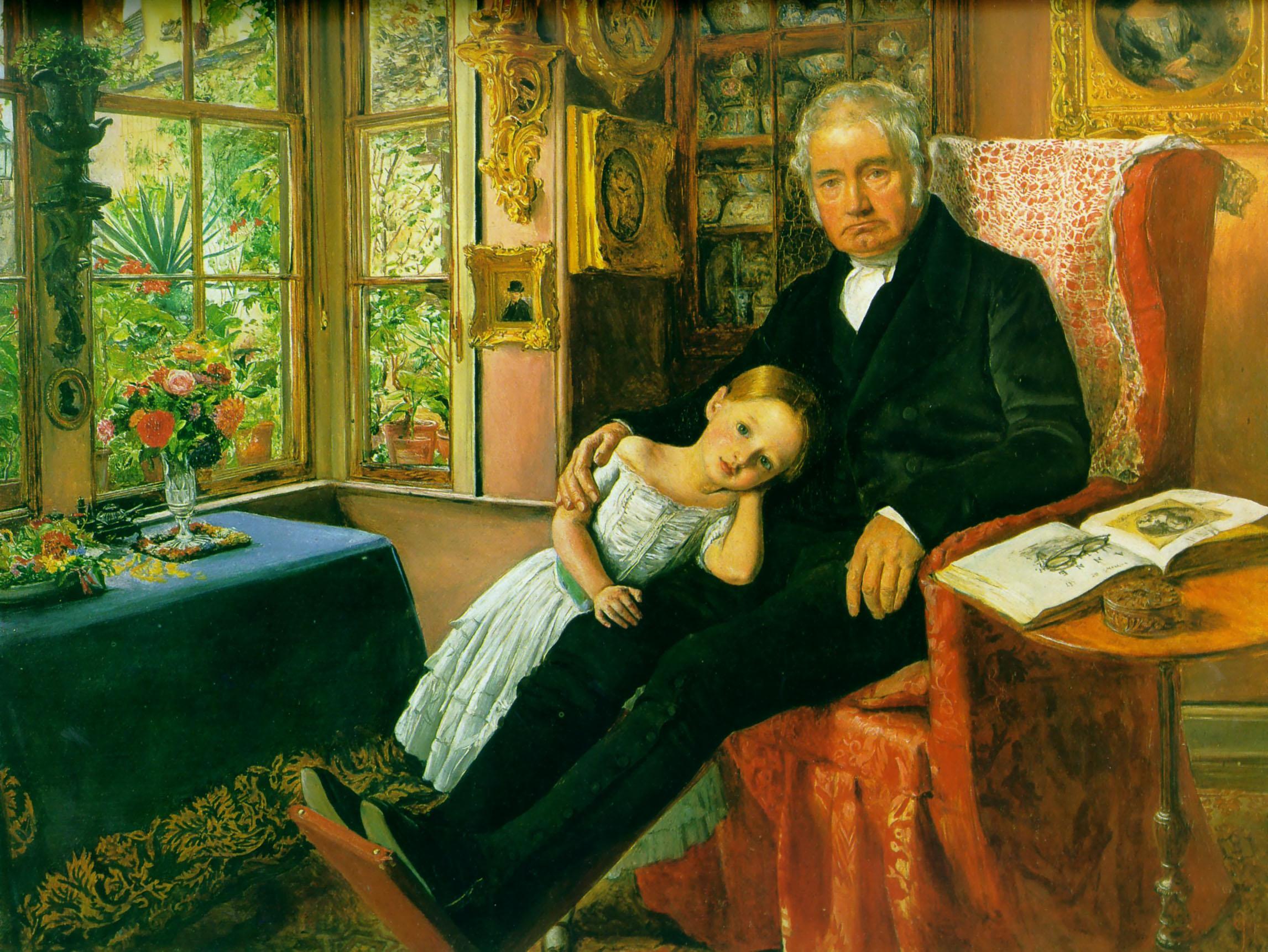 John Everett Millais James-wyatt-and-his-granddaughter-mary