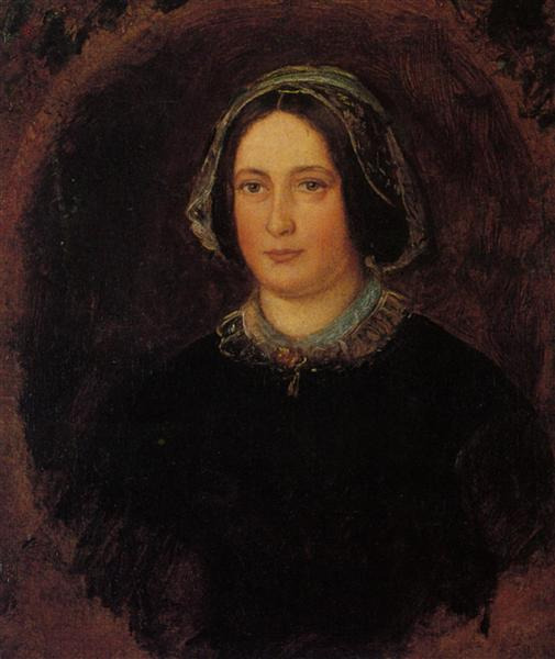 Portrait of Mrs William Evamy, The Artists Aunt - John Everett Millais