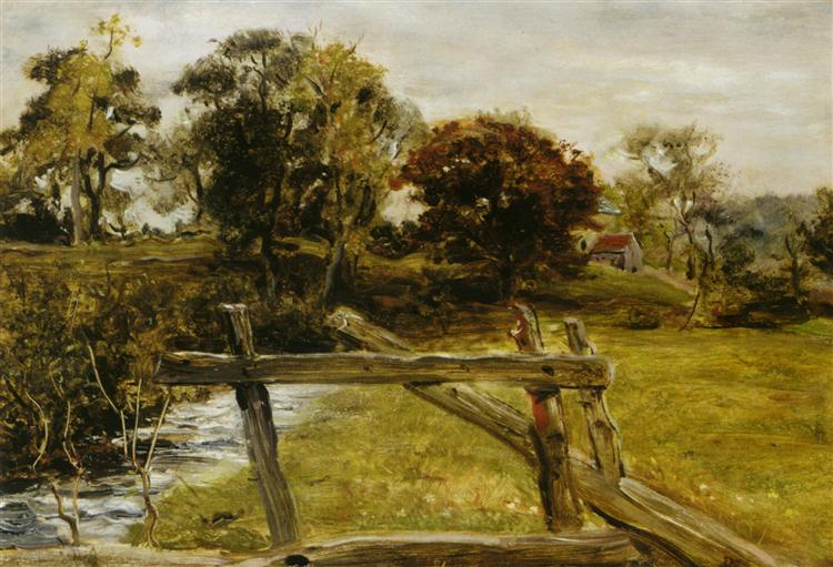 View Near Hampstead - John Everett Millais