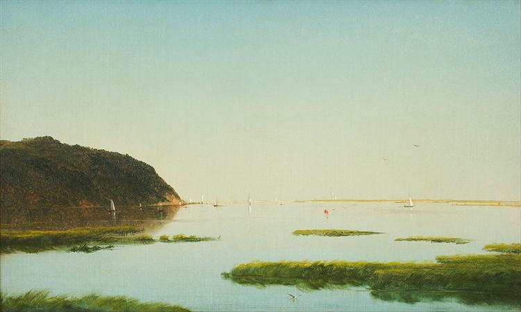 View of the Shrewsbury River, New Jersey, 1859 - 約翰·弗雷德里克·肯塞特