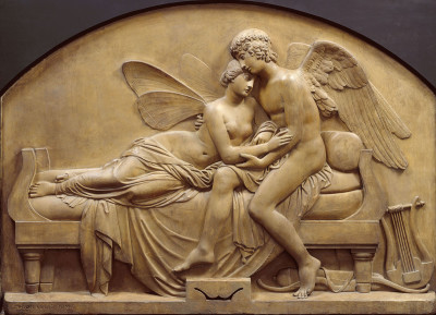 The Marriage of Psyche and Celestrial Love - John Gibson