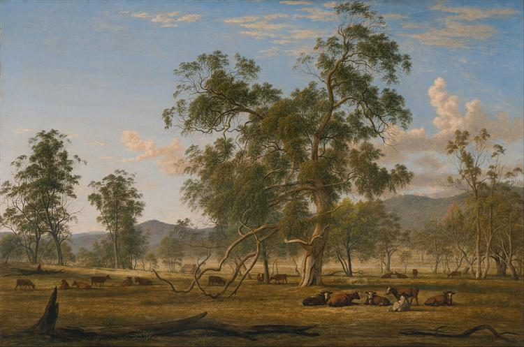 Patterdale landscape with cattle, 1833 - Джон Гловер
