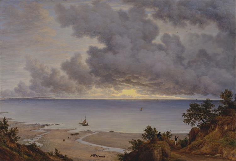 Sandown Bay, from near Shanklin Chine, Isle of Wight, 1827 - Джон Гловер
