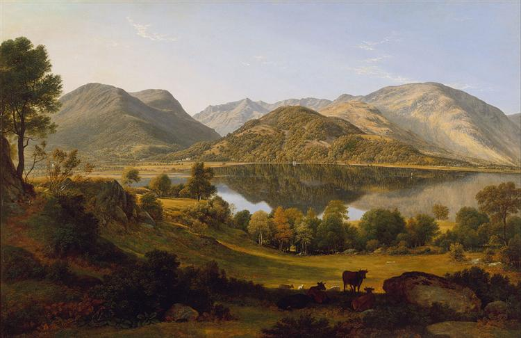 Ullswater, early morning, 1824 - John Glover