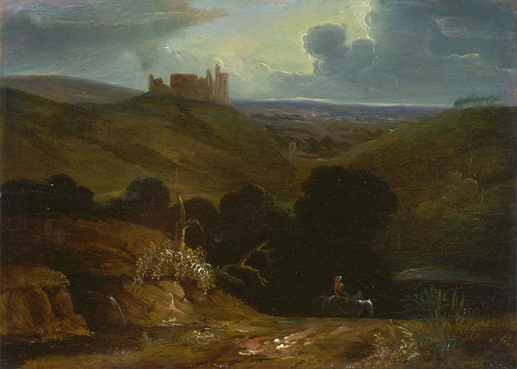 Landscape with a Castle, 1820 - Джон Мартин