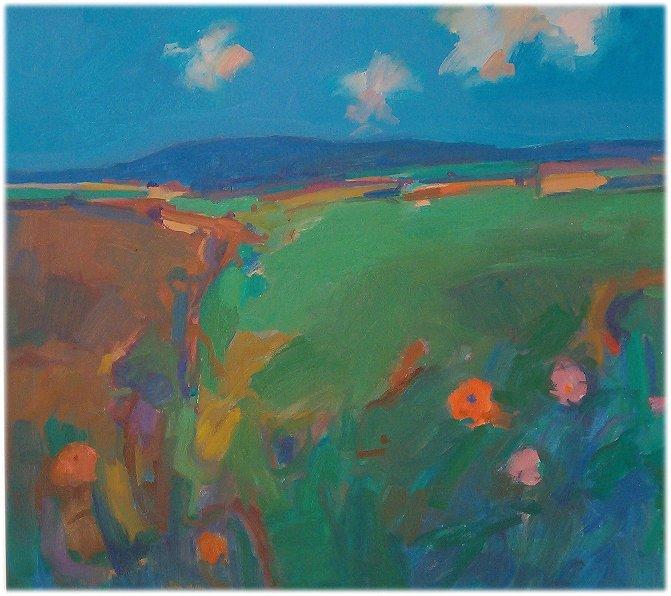 West Penwith Summer Landscape - John Miller
