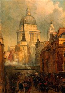 St Paul's from Ludgate Hill - John O'Connor