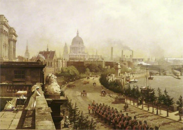 The Embankment, London, 1874 - John O'Connor