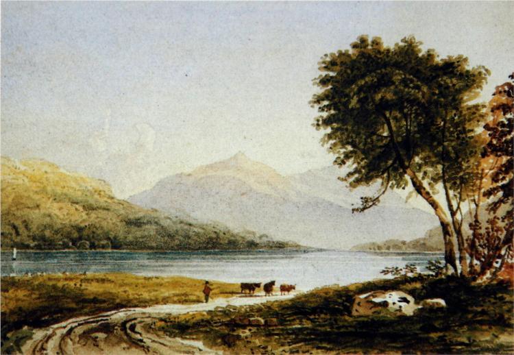 Copy of A. V. Copley Fielding's Loch Achray, 1835 - John Ruskin
