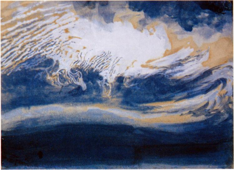 Ice Clouds over Coniston Old Man, 1880 - John Ruskin