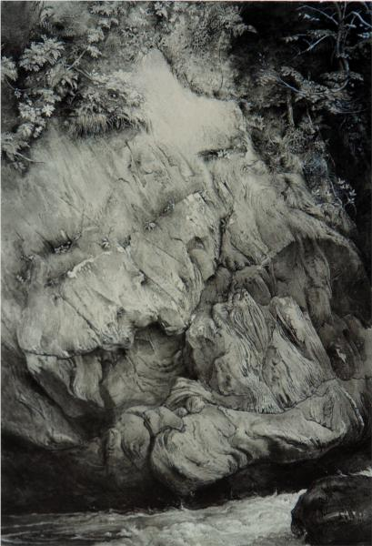 Study of Gneiss Rock Glenfinlass, 1853 - Джон Рёскин