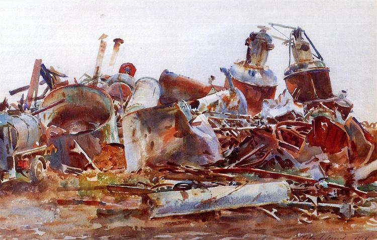 A Wrecked Sugar Refinery, 1918 - John Singer Sargent