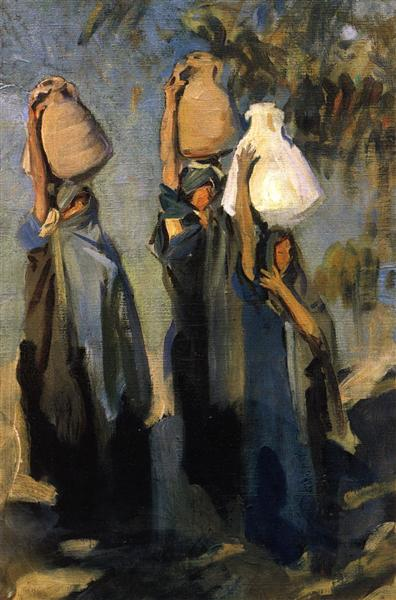 Bedouin Women Carrying Water Jars, 1891 - John Singer Sargent