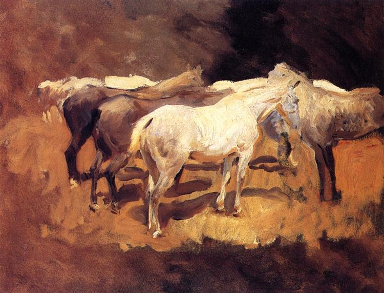 Horses at Palma, 1908 - John Singer Sargent