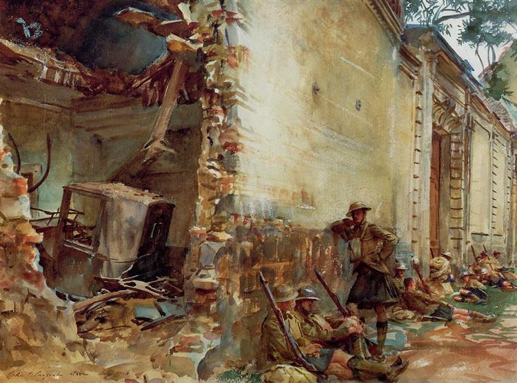 Street in Arras - John Singer Sargent