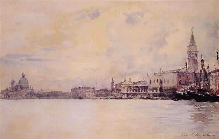 The Entrance to the Grand Canal, Venice, c.1880 - c.1882 - John Singer Sargent