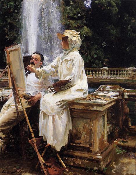 The Fountain, Villa Torlonia, Frascati, Italy, 1907 - John Singer Sargent
