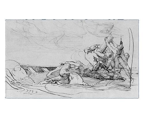 Study for The Siege of Gibraltar, 1785 - 1786 - John Singleton Copley