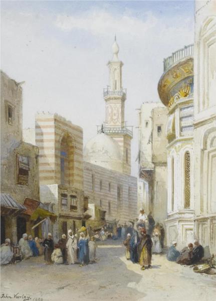 Street Scene, Cairo, 1880 - John Varley II