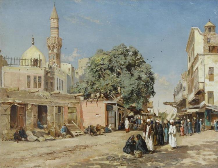 The Market Place, Boulac, Cairo, 1881 - John Varley II