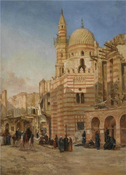 The Mosque of Khair Bek, Cairo, 1880 - John Varley II