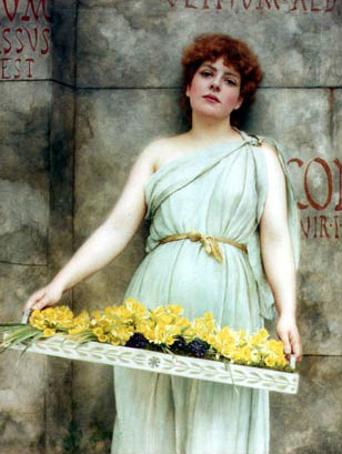 John William Godward - Page 2 A-flower-seller-1896