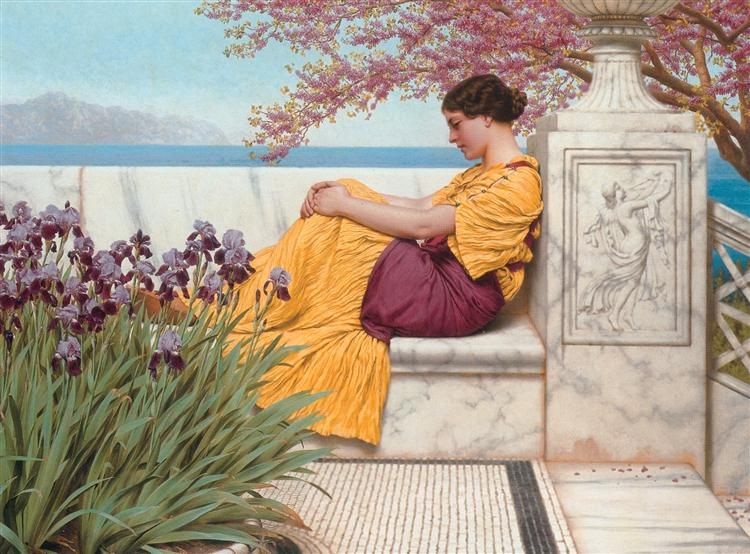 Under the Blossom that Hangs on the Bough, 1917 - John William Godward