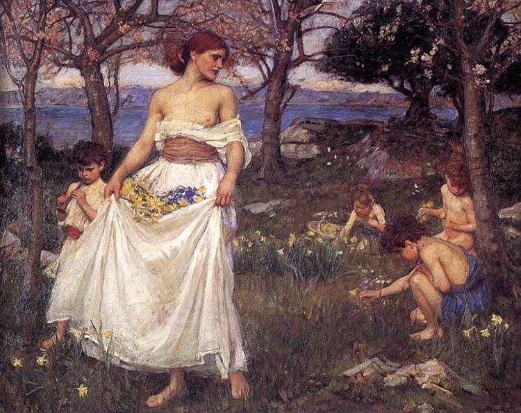 A Song of Springtime, 1913 - John William Waterhouse
