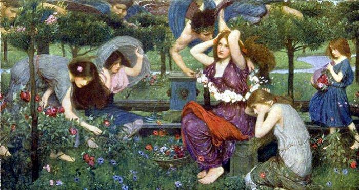 Flora and the Zephyrs, 1898 - John William Waterhouse