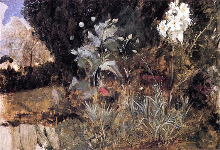 Flower Sketch for The Enchanted Garden, 1915 - 1916 - John William Waterhouse