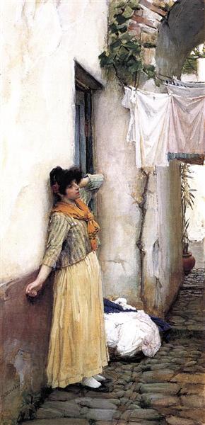 Resting, c.1886 - John William Waterhouse