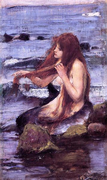 Esquisse pour Une Sirène, 1892 - John William Waterhouse