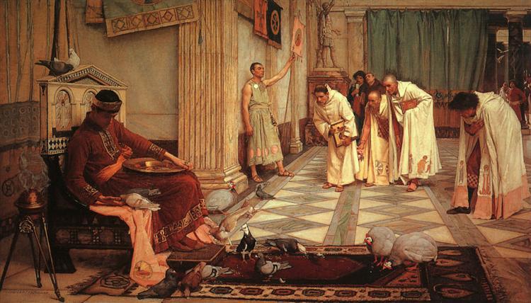 The favourites of Emperor Honorius, c.1883 - John William Waterhouse