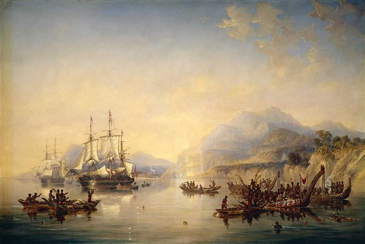 'Erebus' and the 'Terror' in New Zealand, August 1841, 1847 - John Wilson Carmichael