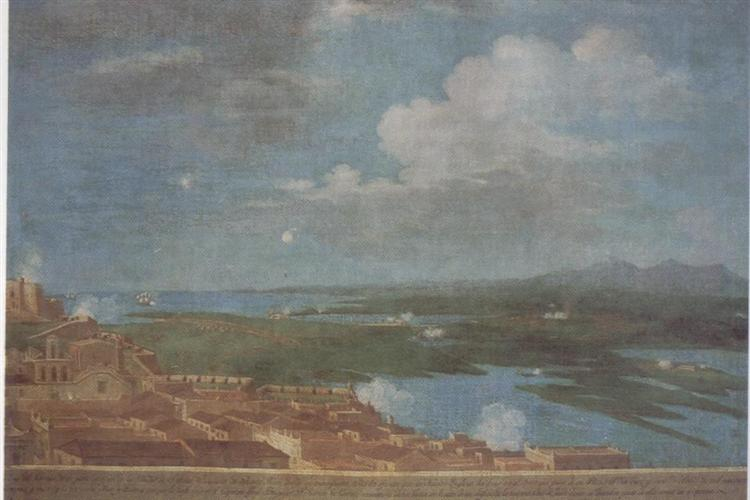 Clouds over a coastal Puerto Rican town, 1809 - Jose Campeche