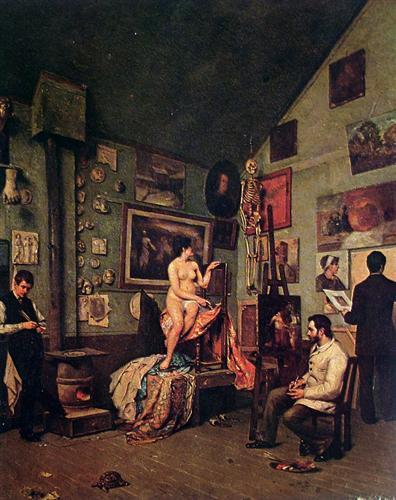 Studio in Paris - Jose Ferraz de Almeida Junior